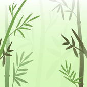 Bamboo in the mist — Stock Vector
