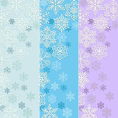 Set ot blue Christmas banners with snowflakes — Stock Vector