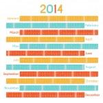 Calendar 2014 — Stock Vector #32108393