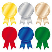 Set di medaglie — Vettoriale Stock