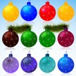 Christmas balls — Stock Vector #29456041