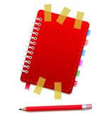 Organizador personal con pensil — Vector de stock