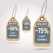 Stor försäljning klistermärken — Stockvektor