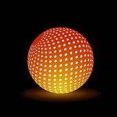 Digital Light Ball — Vector de stock