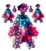 Polygonal robots — Stockvektor