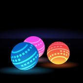 Digital Light Balls — Stock Vector