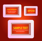 Display text box design with rounded corners — Stock Vector