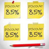 Discount text — Stock Vector
