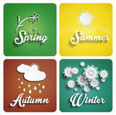 Seasons platt design — Stockvektor
