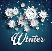 Papier płatki śniegu — Wektor stockowy