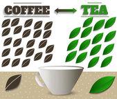 Kahve ve çay — Stok Vektör