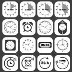 Black clocks icon — Stock vektor