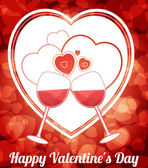 Happy Valentine Day — Vettoriale Stock