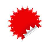 Red sticker — Stock Vector