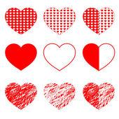 Cuori per matrimonio e san valentino design — Vettoriale Stock