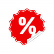 Stock Vector: Sticker percent