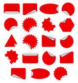 Kırmızı etiket — Stok Vektör