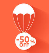 Discount parachute — Stock Vector