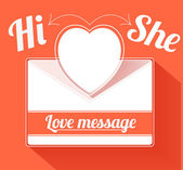 Валентина почтовое сообщение с сердцем — Cтоковый вектор