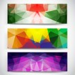 Triangular banners — Stock Vector #39256201