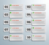 Infographic banners with icons and number — Vettoriale Stock