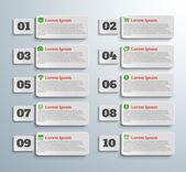 アイコンと同じ数のインフォ グラフィック バナー — ストックベクタ