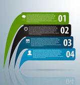 Infografía pancartas con los iconos y el número — Vector de stock