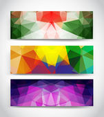 Triangular banners — Stock Vector