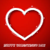 バレンタインの日を描く心 — ストックベクタ
