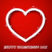 Valentines day draw heart — ストックベクタ