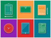 Business work elements — Stock Vector