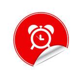 赤いステッカー時計 — ストックベクタ