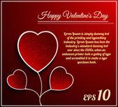 Valentine dag bloem hart — Stockvector