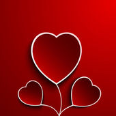 Coeur de fleur pour le jour saint-valentin — Vecteur