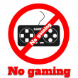 Stock Vector: No gaming