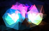 Fond triangulaire — Vecteur