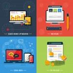 Web design, seo, social media Icons — Stock Vector #40767669