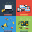 Icons for web design, seo, social media — Stock Vector