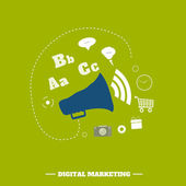 Concepto de marketing digital — Vector de stock