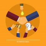 Business idea concept — Stock Vector