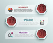 Biznesu infografiki transparent origami styl — Stockvector