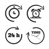 Clocks, time icons set — Stock Vector