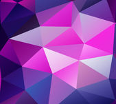 Triangle background. Purple polygons. — Stock Vector