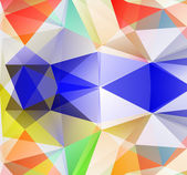 Triangle background. Colorfull polygons. — Stockvector