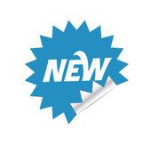 Blue sticker — Stock Vector