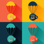 Discount parachute set — Vetorial Stock