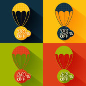 Discount parachute set — Stock Vector