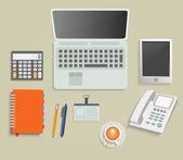 Conjunto de varios elementos de servicios financieros — Vector de stock