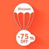 Discount parachute — Stock Vector