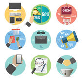 Business, office and marketing items icons. — Vettoriale Stock